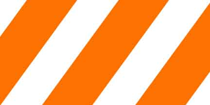 FLG SWO - Orange/White Striped Flagging